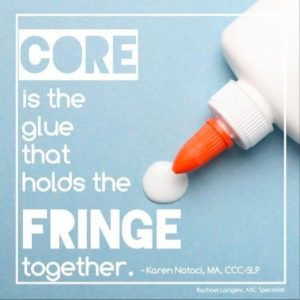 core is the glue that holds the fringe together graphic
