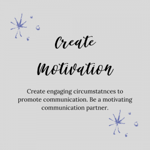 graphic stating create motivation