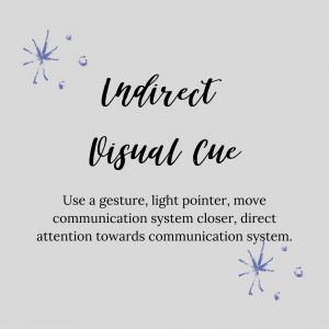 graphic stating indirect visual cue