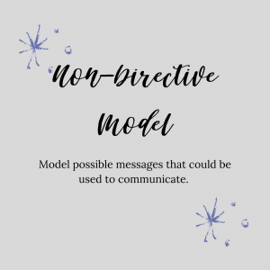 graphic stating non-directive model