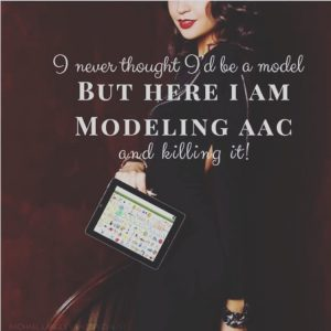 "image with caption ""I Never Thought I'd Be a Model, But, Here I Am Modeling AAC and Killing It!"
