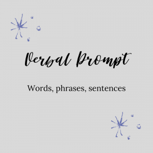 graphic about verbal prompt