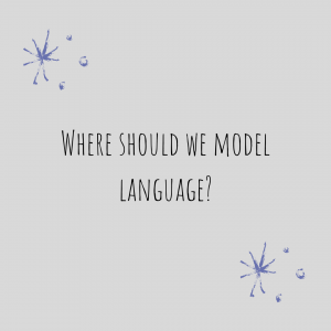 "Graphic stating: ""Where Should We Model Language?"""