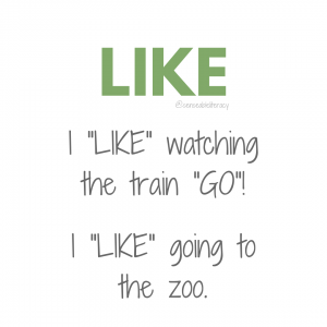 "image stating ""LIKE"", I ""LIKE"" watching the train ""GO""! and I ""LIKE"" going to the zoo."